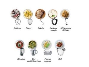 Accessoires fournis avec Kenwood Cooking Chef Experience